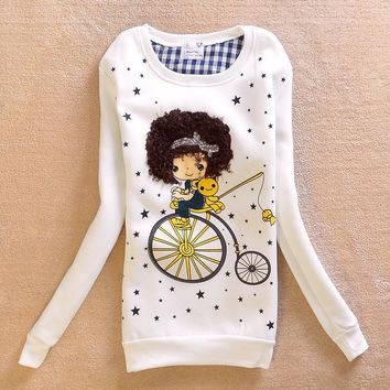 Korean Long Sleeve T-shirts Women's Fashion Pullover Bottoming Shirt [9036925836]
