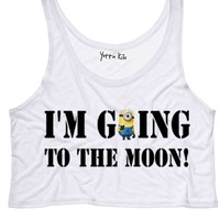 I'm Going To The Moon Crop Tank Top