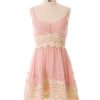 Got a Date Pink Lace Dress - New Arrivals - Retro, Indie and Unique Fashion