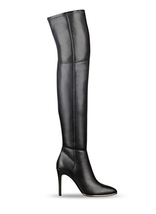 zonian faux leather the knee boots from guess