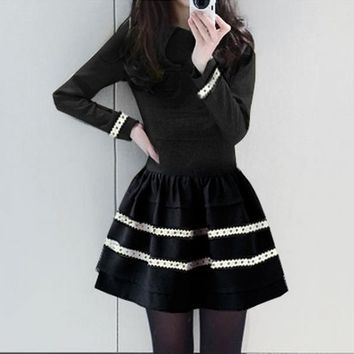 Winter Clothes Sweet Long Sleeves Large Swing Dress