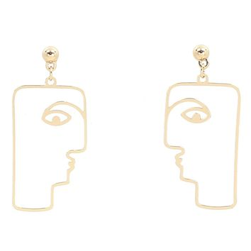 Geo Face Earrings