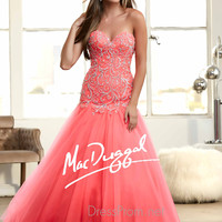 Strapless Sweetheart Prom Ball Gown By Mac Duggal 48211H