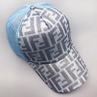 Fendi Fashion New More Letter Shining Women Men Sunscreen Cap Hat
