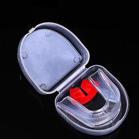 1PCS Double Side Boxing MMA Sanda Mouthguard Wear Braces Denture Football Sport Tooth Gum Shield Gear Teeth Protector