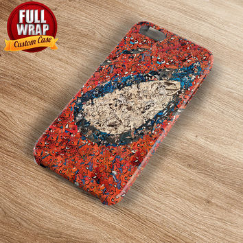 Spiderman Red Collage Art Full Wrap Phone Case For iPhone, iPod, Samsung, Sony, HTC, Nexus, LG, and Blackberry