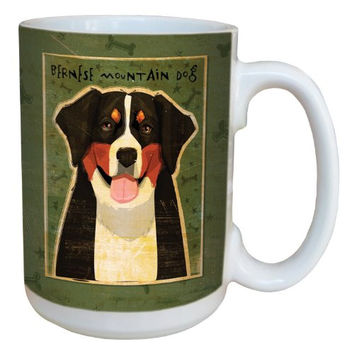 Tree-Free Greetings sg44032 Bernese Mountain Dog by John W. Golden Ceramic Mug with Full-Sized Handle, 15-Ounce