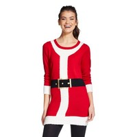 Women's Ugly Christmas Santa Tunic Sweater - 33 Degrees