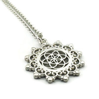 Sacred Geometry Necklace, Seed of Life Necklace