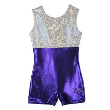 O3GL005 Obersee  Girl's Girls Gymnastics Biketard - Purple