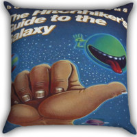 Hitchhikers Guide to the Galaxy I0068 Zippered Pillows  Covers 16x16, 18x18, 20x20 Inches