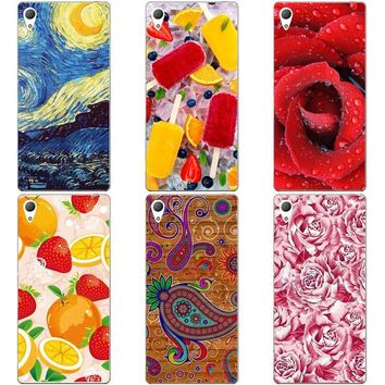 Luxury Printing Case For OPPO A37 A37M A37F Art Print Flower Cell Phone Cover Rose Funda Cute Animal Coque