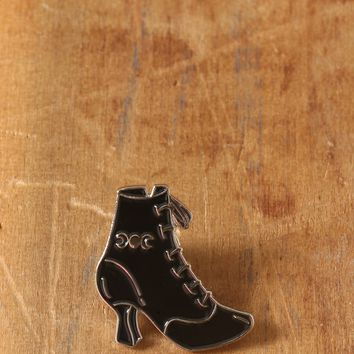 CLASSIC WITCH BOOT ENAMEL PIN