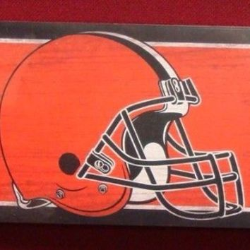 """CLEVELAND BROWNS GENERAL SEATING WOOD SIGN 6""""x36"""" NEW WINCRAFT"""