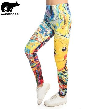Anime Pokemon 3D Women Leggings Pikachu