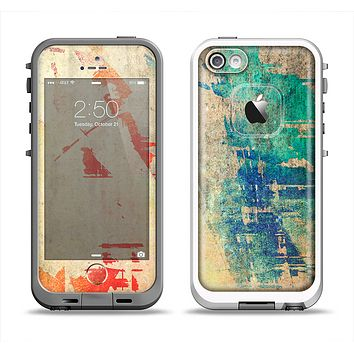 The Grunge Multicolor Textured Surface Apple iPhone 5-5s LifeProof Fre Case Skin Set