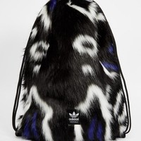 Adidas | adidas Originals Faux Fur Drawstring Backpack at ASOS