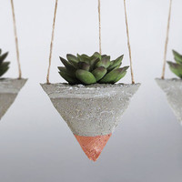 Air Planter, Concrete Planter, Succulent Planter, Hanging Planter, Modern Planter, Mini Planter, Succulent Pot, Air Plant, Bronze - Set of 3