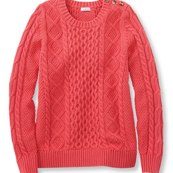 Women's Coveside Sweater, Cable Pullover | Free Shipping at L.L.Bean