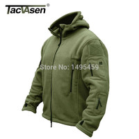 TACVASEN Winter Military Fleece Warm Men Tactical Jacket Thermal Breathable Hooded Men Jackets And  Coats Outerwear Clothes