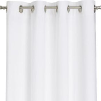 Wallace White 52x63 Grommet Curtain Panel