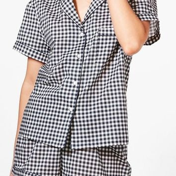 Alice Gingham Shirt and Short | Boohoo