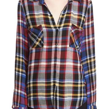 L'AGENCE Plaid Flannel Shirt | Nordstrom