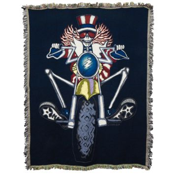 Grateful Dead Psycle Sam Woven Cotton Blanket