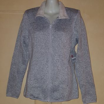 Swiss Tech Women's Sweater Fleece with Sherpa Lining