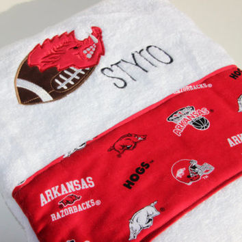 Arkansas Razorback Bath Towel