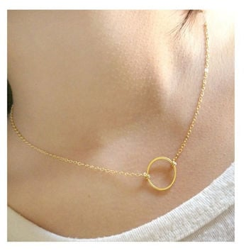 Fashion Handmade Forever Circle Silver Gold Karma Necklace Eternity Infinity Jewelry