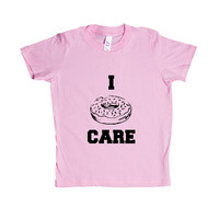 I Donut Care Donuts I Do Not Care Dessert Desserts Food Eat Eating Pun Puns Play On Words Funny SGAL9 Unisex Kid's Shirt
