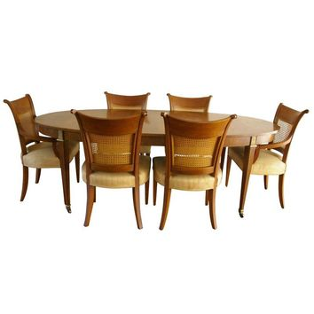 Pre-owned Vintage Baker Furniture Regency Style Dining Set