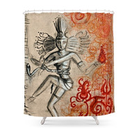 Society6 Shiva Shower Curtain