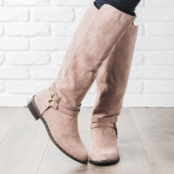 Buckle Knee-High Rider Boots