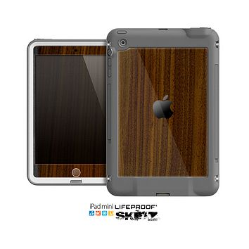 The Dark Walnut Wood Skin for the Apple iPad Mini LifeProof Case