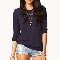 Essential Buttoned Vent Sweater
