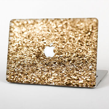 The Gold Glimmer V2 Skin Set for the Apple MacBook Laptop (Most Versions Available - Choose Coverage)