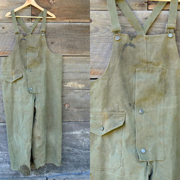 Vintage WWII Distressed 1940's U.S.Military Coast Guard Cold Weather Overalls