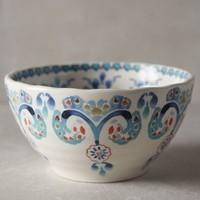 Swirled Symmetry Bowl by Anthropologie in Blue Motif Size: Bowl Bowls