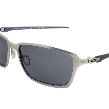 New in a Box Oakley Tincan Carbon Satin Chome w/Grey 6017-01