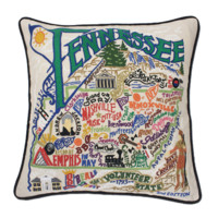 Catstudio Tennessee Embroidered Pillow