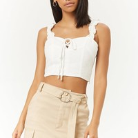 Belted Cargo Mini Skirt