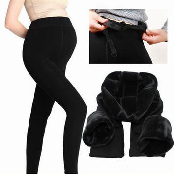 large size maternity winter leggings thick warm pants for pregnant women maternity pants Trousers clothing for pregnant