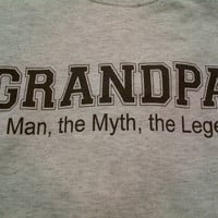 Personalized Grandpa Shirt-The Man The Myth The Legend