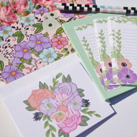 Snail mail  floral letter writing kit limited edition