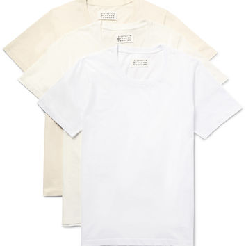 Maison Margiela - Three-Pack Cotton-Jersey T-Shirts | MR PORTER
