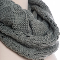 Double Time Infinity Scarf, Gray