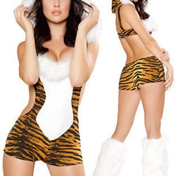 DCCKIX3 Leopard Cosplay Anime Cosplay Apparel Holloween Costume [9211506948]