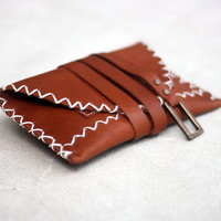 Fox in the Forest - Leather Tobacco Pouch